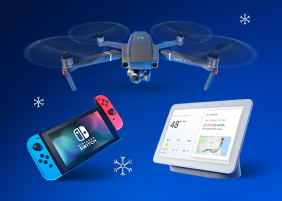Nintendo Switch, Drone and Google Hub