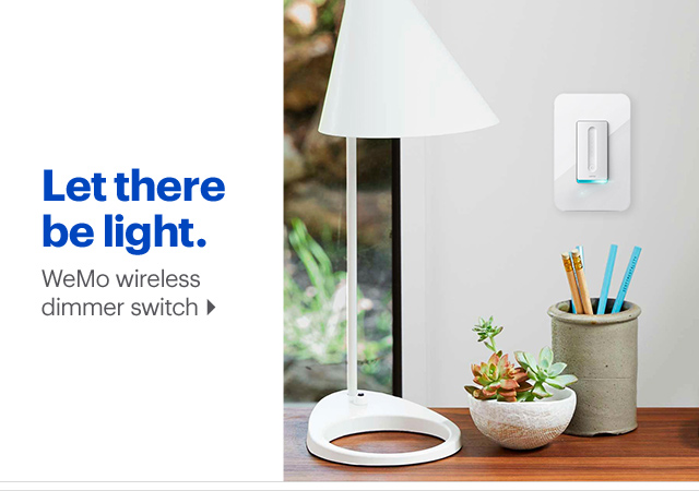 Wemo wireless dimmer switch