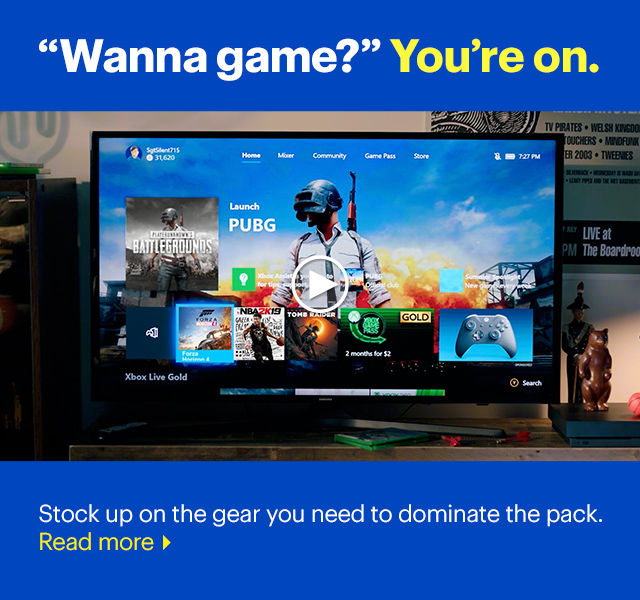 Wanna game? You're on. Stock up on Xbox gear.