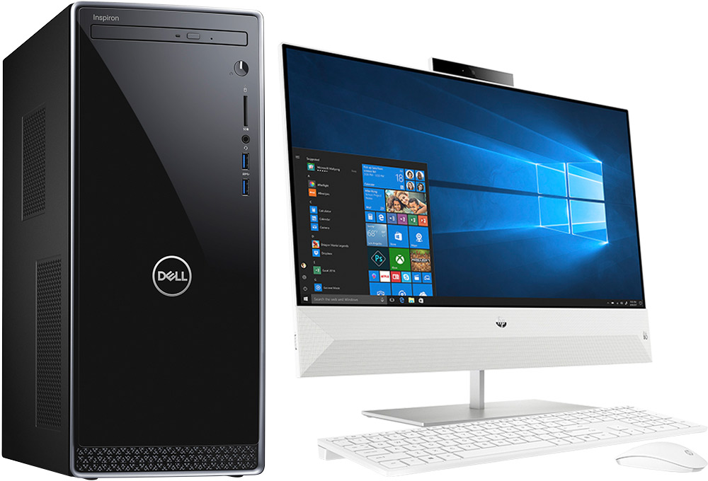 Desktop tower, all-in-one computer